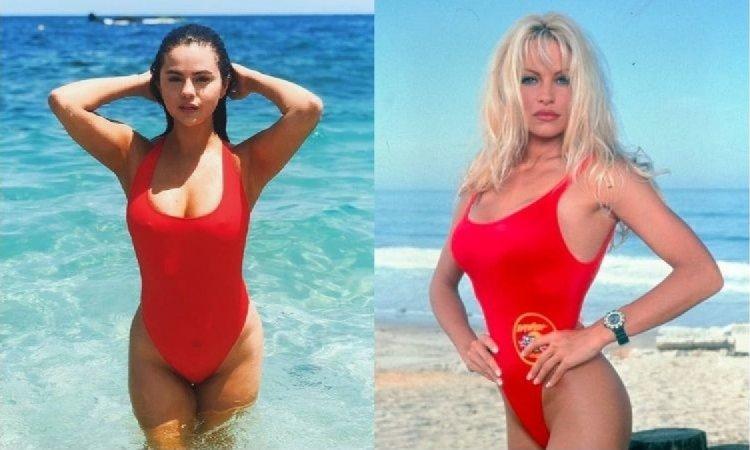 """W tym kostiumie Selena Gomez wygląda jak Pamela Anderson ze """"Słonecznego patrolu""""! Internauci BEZLITOŚNI: """"Odstaw ciastka!"""", radzą"""