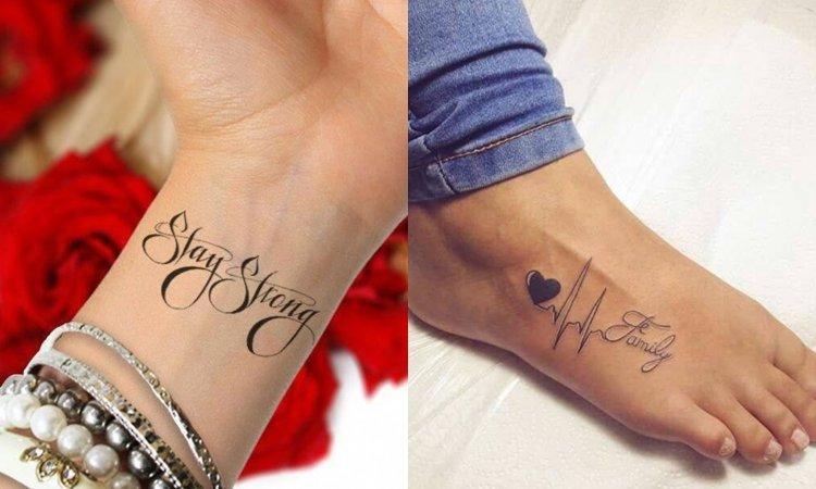 Wasze Ulubione Tatuaże Napisy Na Rękę Nadgarstek Kostkę