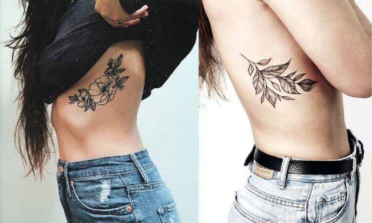 Tatuaż na żebrach - galeria kobiecych wzorów, które robią wrażenie