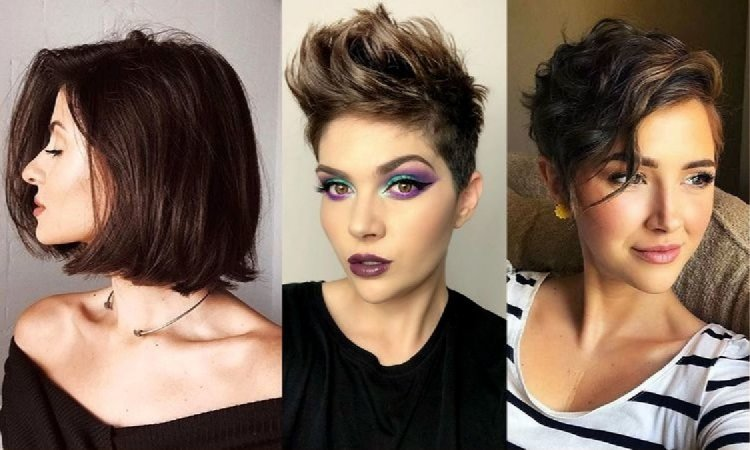 Modne cięcia dla brunetek i szatynek - galeria krótkich i półkrótkich fryzur