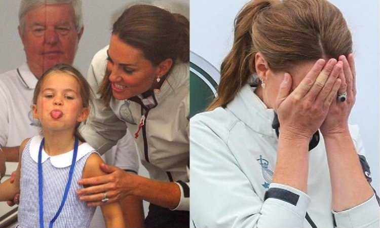 Księżniczka Charlotte podczas królewskich regat pokazała wszystkim język. Reakcja Kate? Bezcenna!