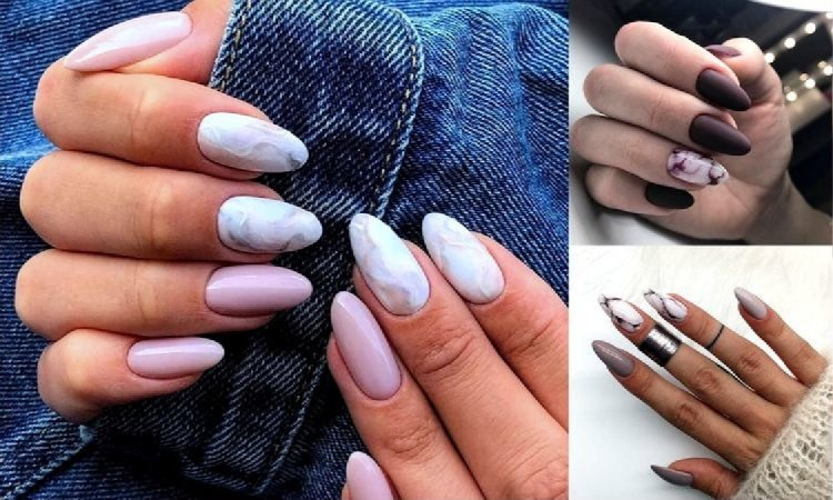 Marmurkowy manicure powraca - 20 stylizacji w różnych wariantach kolorystycznych