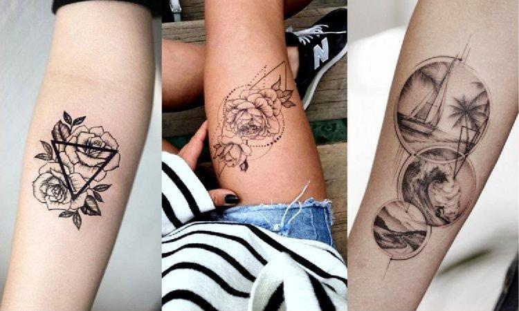 Geometryczne tatuaże - galeria rewelacyjnych wzorów dla kobiet