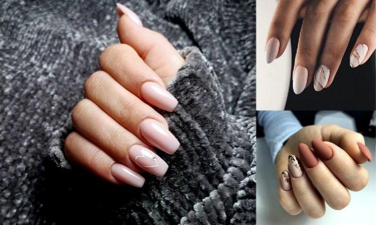 Jesienny nude manicure - najpiękniejsze stylizacje z sieci