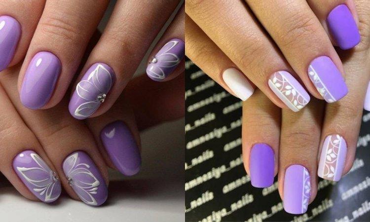 Fioletowe paznokcie - 20 propozycji w najpiękniejszych odcieniach