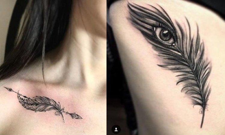 Tatuaż piórko - galeria 20 kobiecych tatuaży