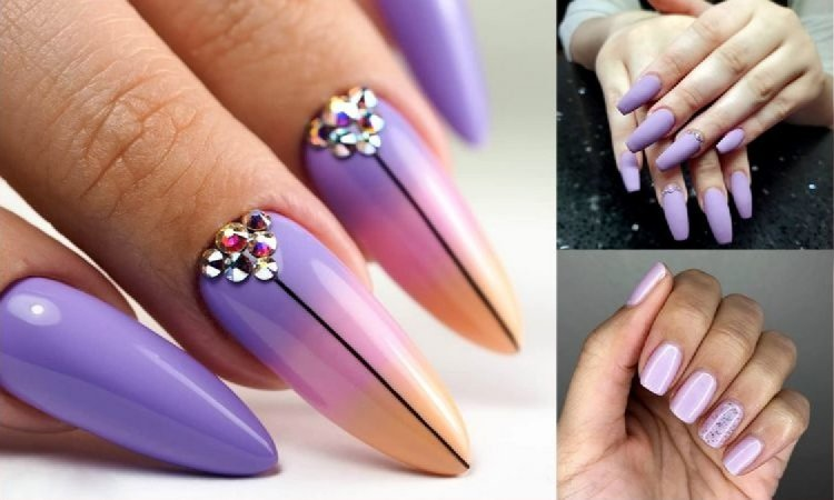 Fioletowy manicure - 21 unikatowych i mega stylowych zdobień