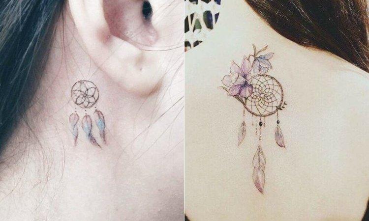 Tatuaż łapacz snów - 20 propozycji na magiczne tatuaże z piórkiem