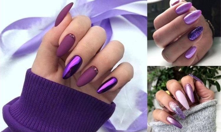 Fioletowy manicure - galeria fantastycznych stylizacji