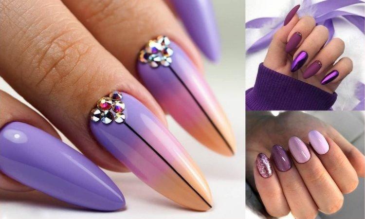 Fioletowy manicure - 21 fantastycznych stylizacji