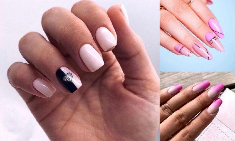 Różowy manicure - 20 pięknych i subtelnych zdobień