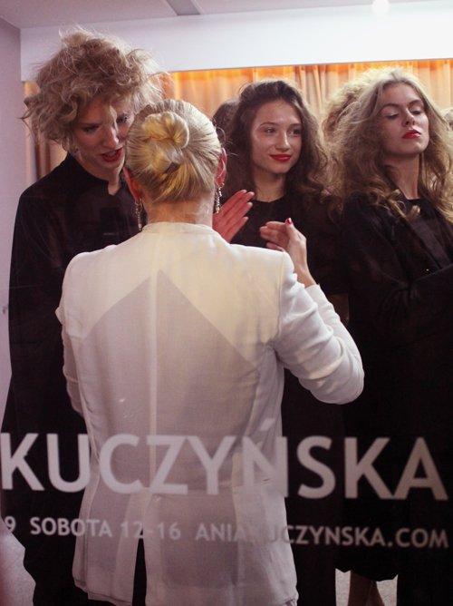 Ania Kuczyńska z modelkami