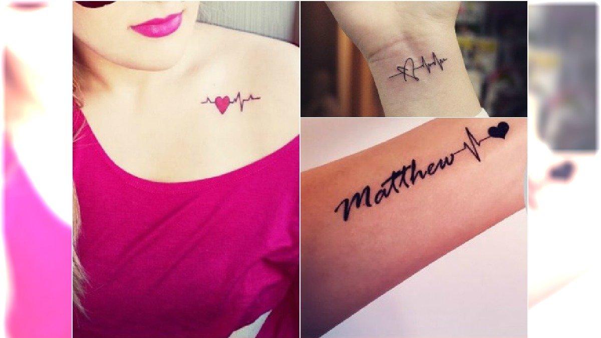 Znalezione obrazy dla zapytania: tatuaż dla dziecka rytm serca