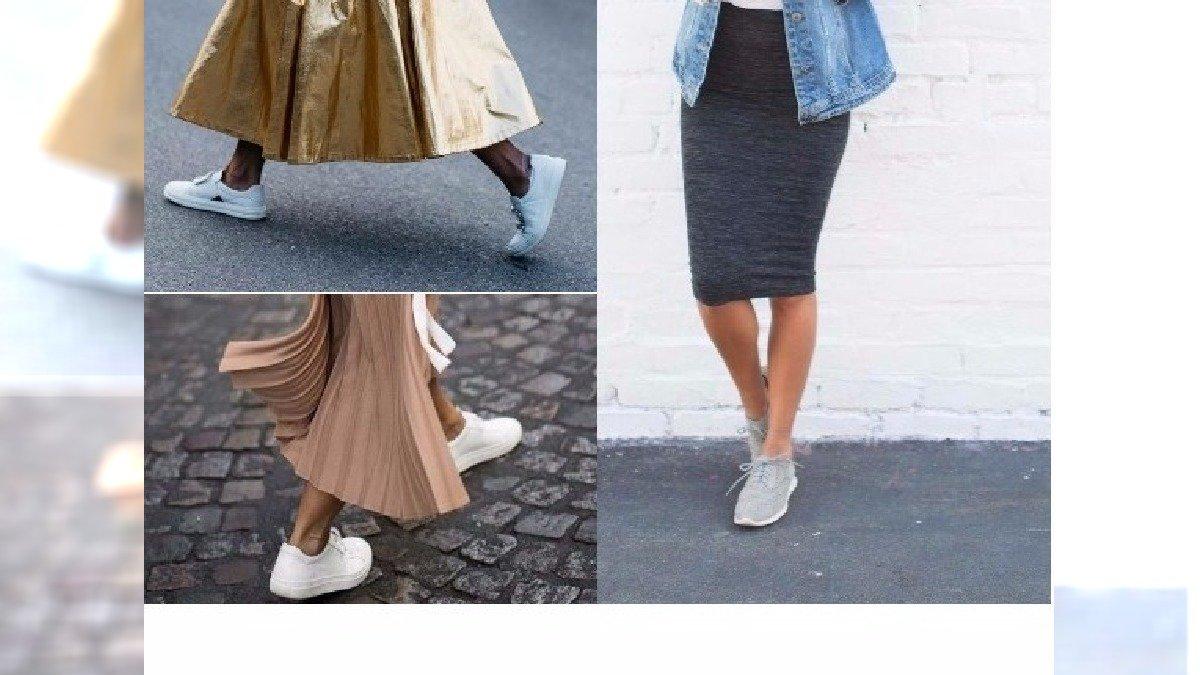 MODA 2017: Jak nosić sportowe buty do sukienki i spódnicy