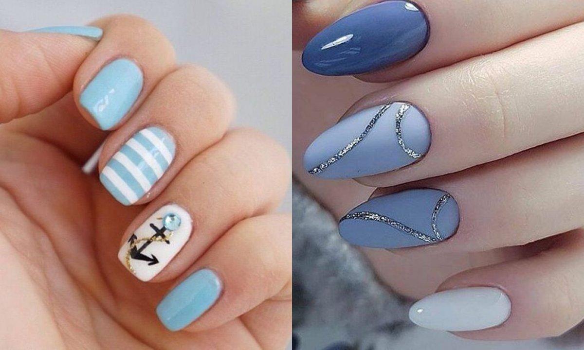Jasne paznokcie z wzorami