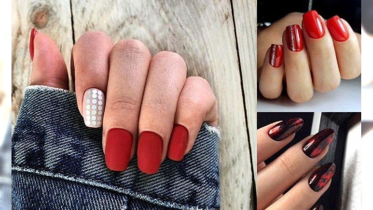 Czerwony manicure 2020 - galeria ślicznych zdobień