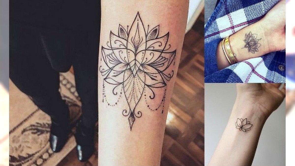 Kwiat lotosu - galeria fantastycznych tatuaży dla kobiet