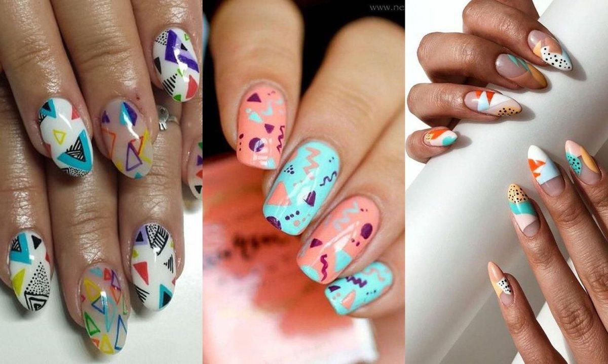Manicure 2020: Graphic nails to hit na rok 2020! Graficzny manicure to ostatni krzyk mody