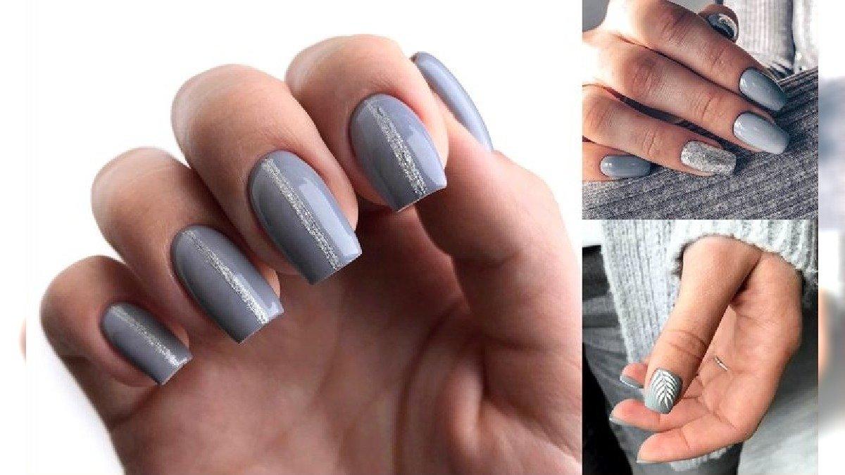 Szary manicure - galeria modnych i gustownych zdobień