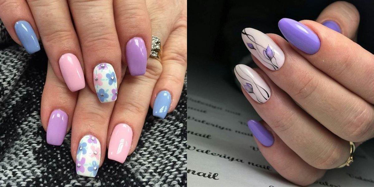Kwiatowy manicure - 22 pomysły na wiosenne paznokcie z motywem kwiatów [GALERIA]
