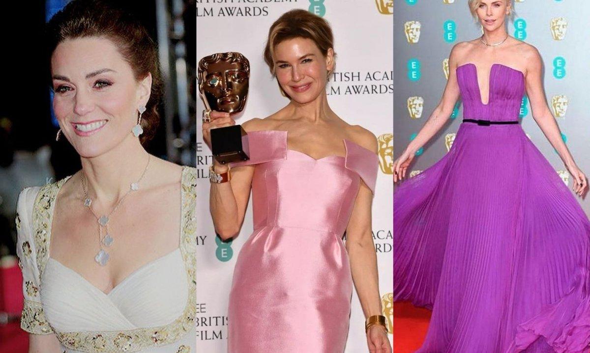 BAFTA: Najpiękniejsze suknie! Córka Deppa ODSŁONIŁA sutki, ale i tak najbardziej zaskoczyła księżna Kate!
