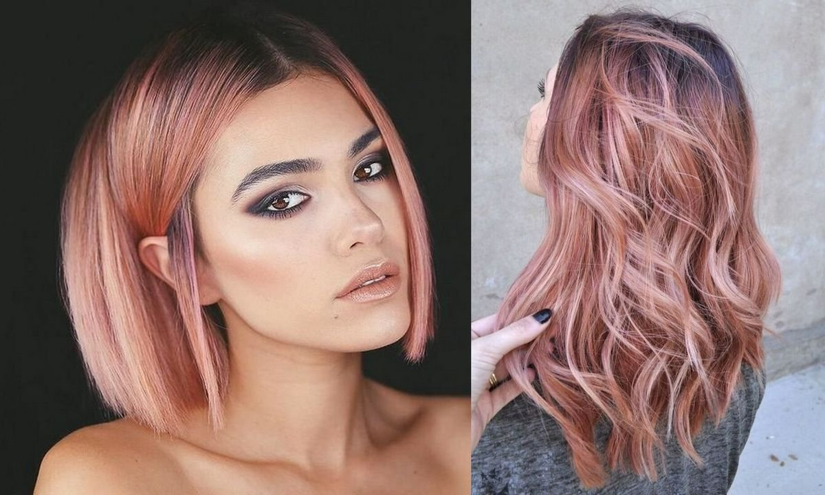 Rose gold - modne kolory włosów na sezon wiosna/lato 2020