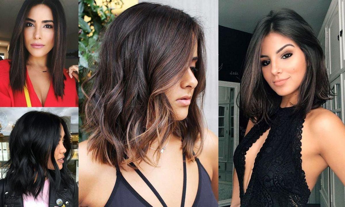 17 stylowych fryzur dla brunetek i szatynek - włosy półdługie i półkrótkie