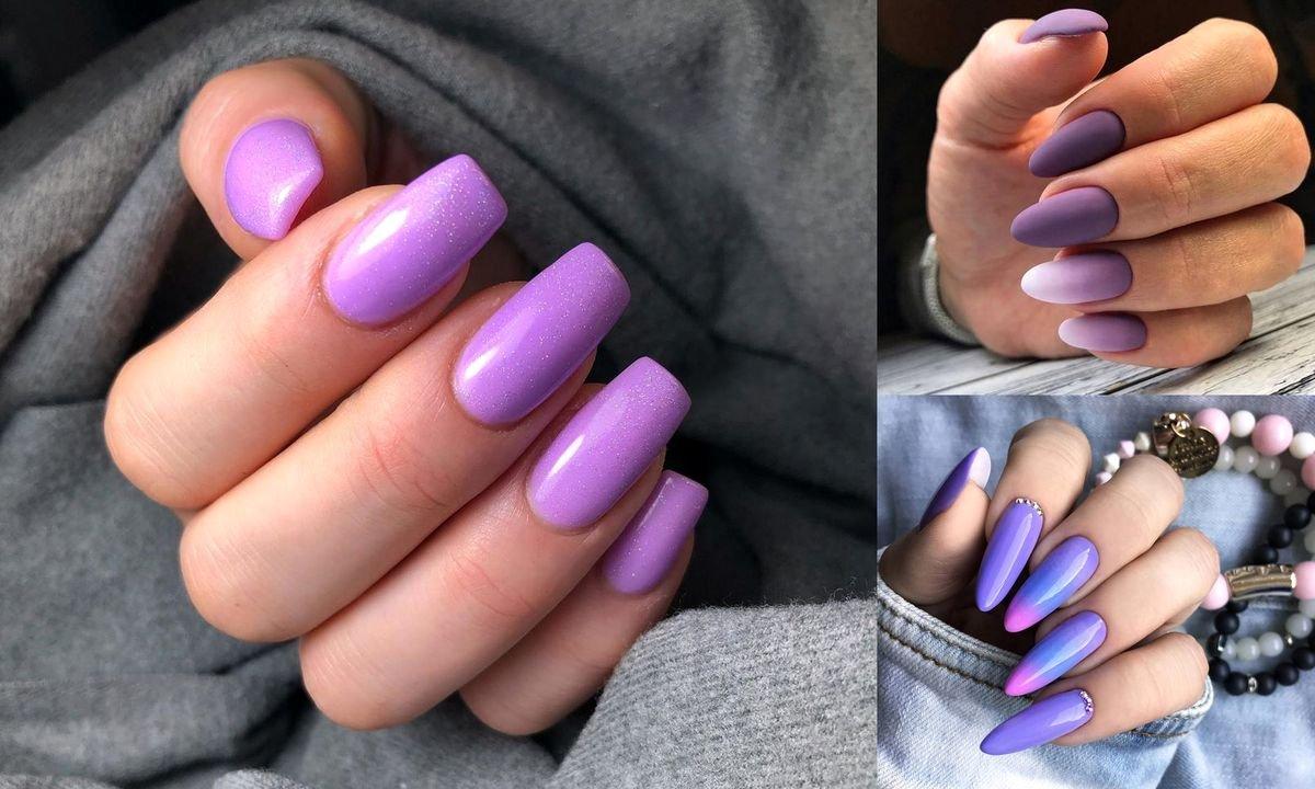 Fioletowy manicure ponownie na topie - galeria niebanalnych stylizacji