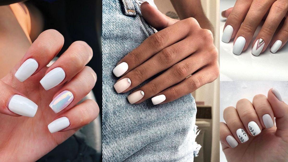 Biały manicure - galeria subtelnych zdobień