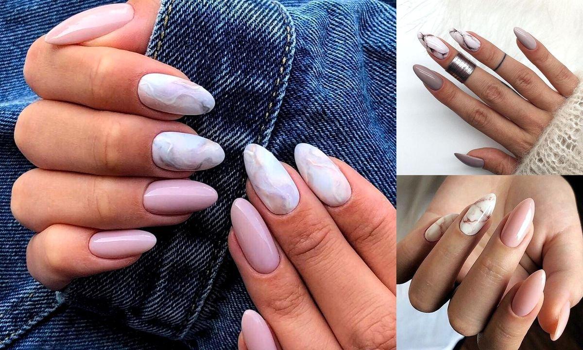 Marmurkowy Manicure Powraca 20 Propozycji W Roznych Wariantach