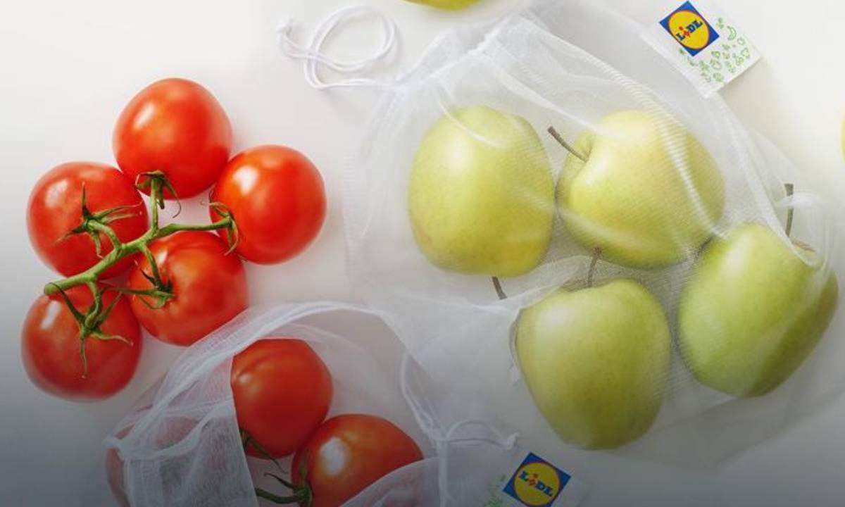 Lidl wprowadza ekologiczne rozwiązanie. Od dziś warzywa i owoce zapakujesz w wielorazówki