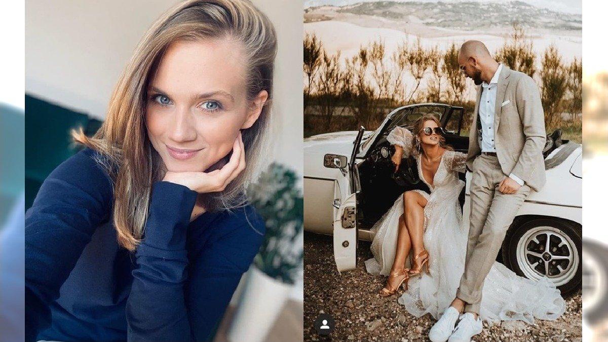 Córeczka Agnieszki Kaczorowskiej ma już 9 miesięcy. Ich rodzinne zdjęcie podbija internet. Emilka BARDZO urosła