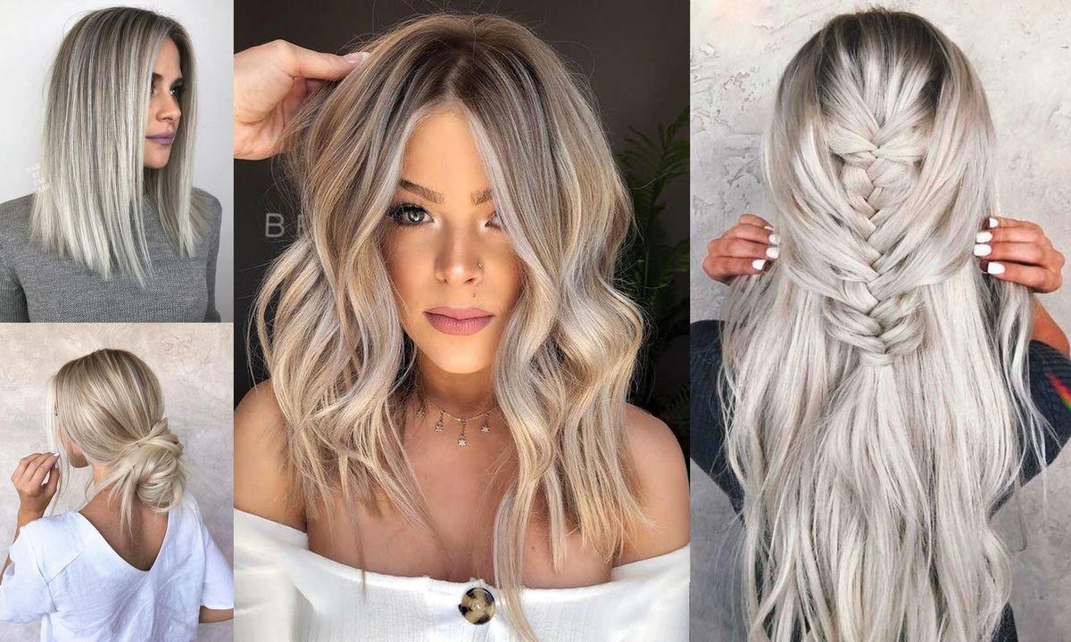 Modne kolory włosów 2020 - popielaty blond w różnorodnych odcieniach