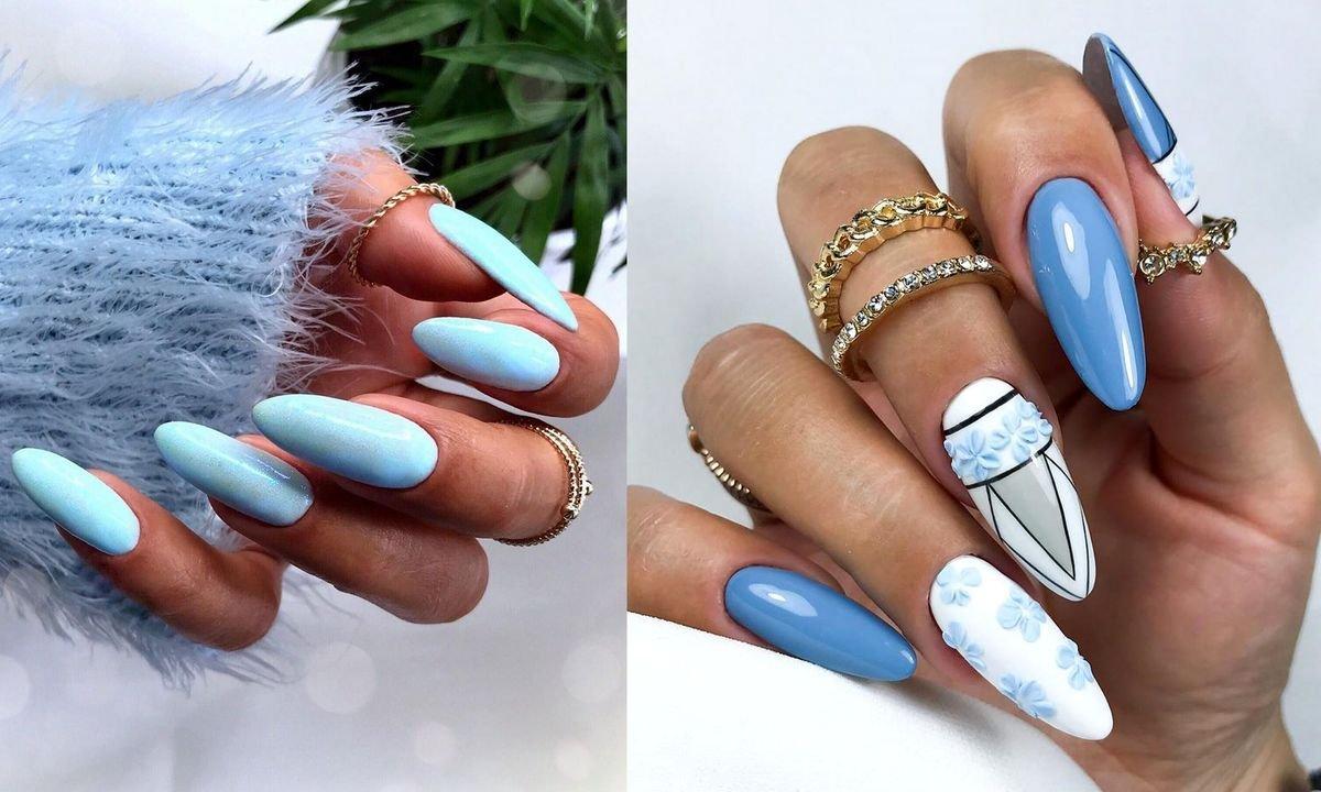 Niebieski manicure - galeria najlepszych propozycji z sieci
