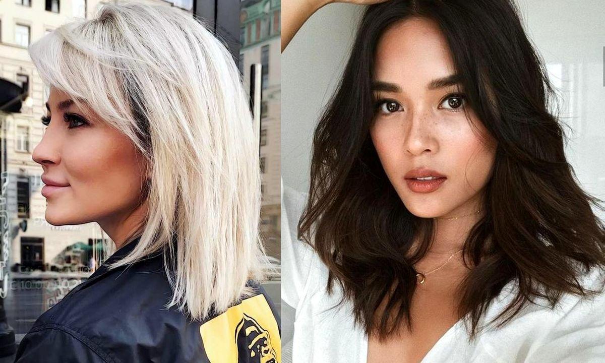 Fryzury dla włosów półdługich - 21 modnych cięć dla brunetek i blondynek