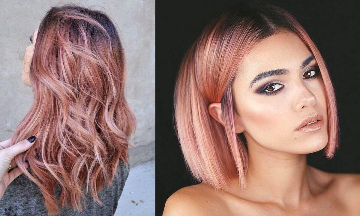 Rose gold - stylowa i charyzmatyczna koloryzacja włosów na lato 2020