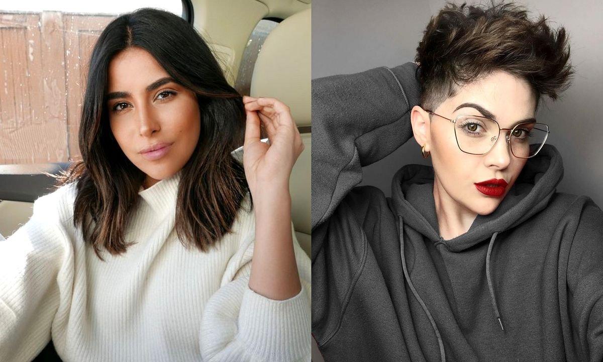 Krótkie i półkrótkie fryzury - katalog modnych cięć dla brunetek i szatynek