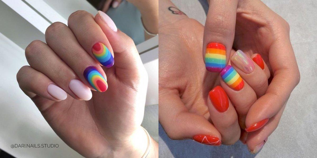 Kolorowe hybrydy - paznokcie we wszystkich kolorach tęczy [GALERIA]