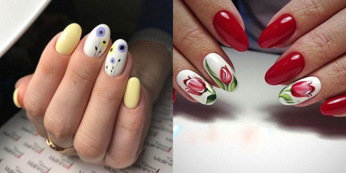 Paznokcie w kwiaty - 19 pomysłów na kwiatowy manicure