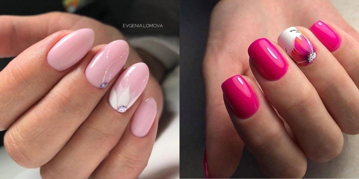 Różowy manicure - ponad 20 pomysłów na różowe paznokcie w różnych odcieniach