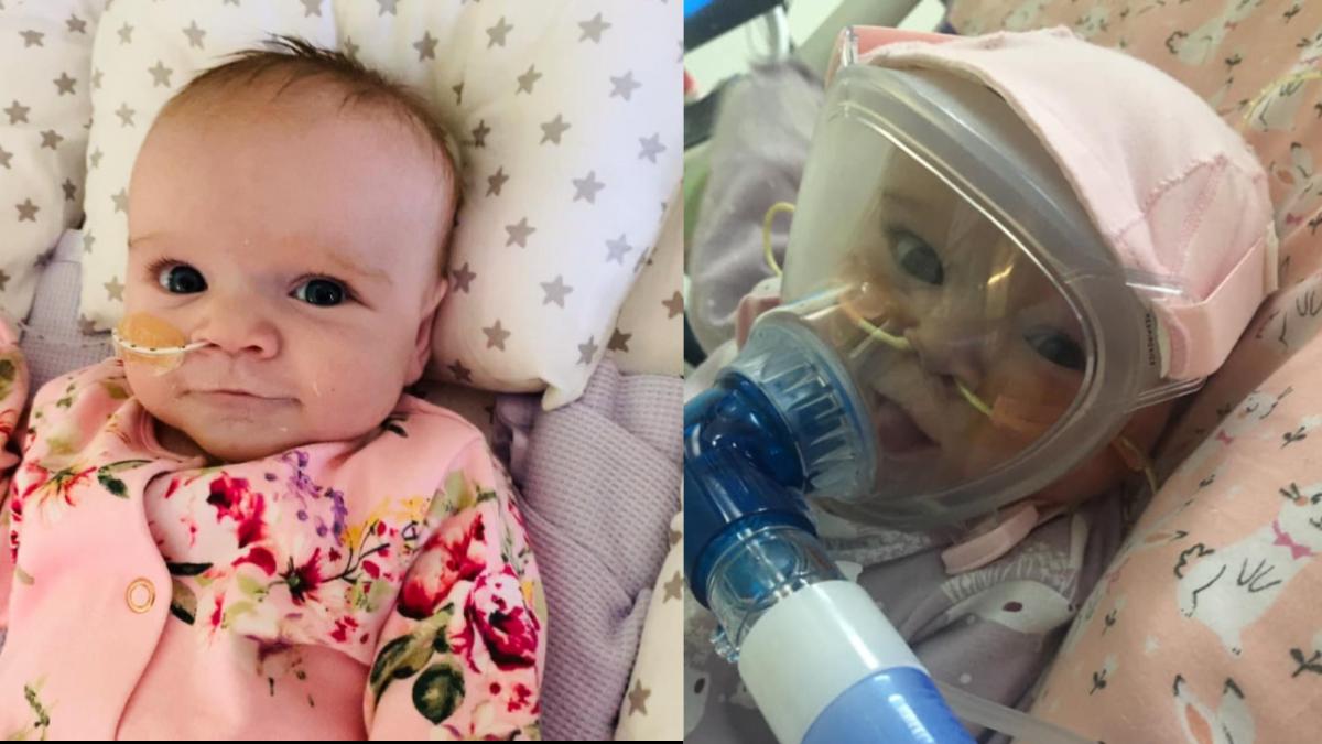 Sześciomiesięczna dziewczynka z chorobą serca walczy z koronawirusem