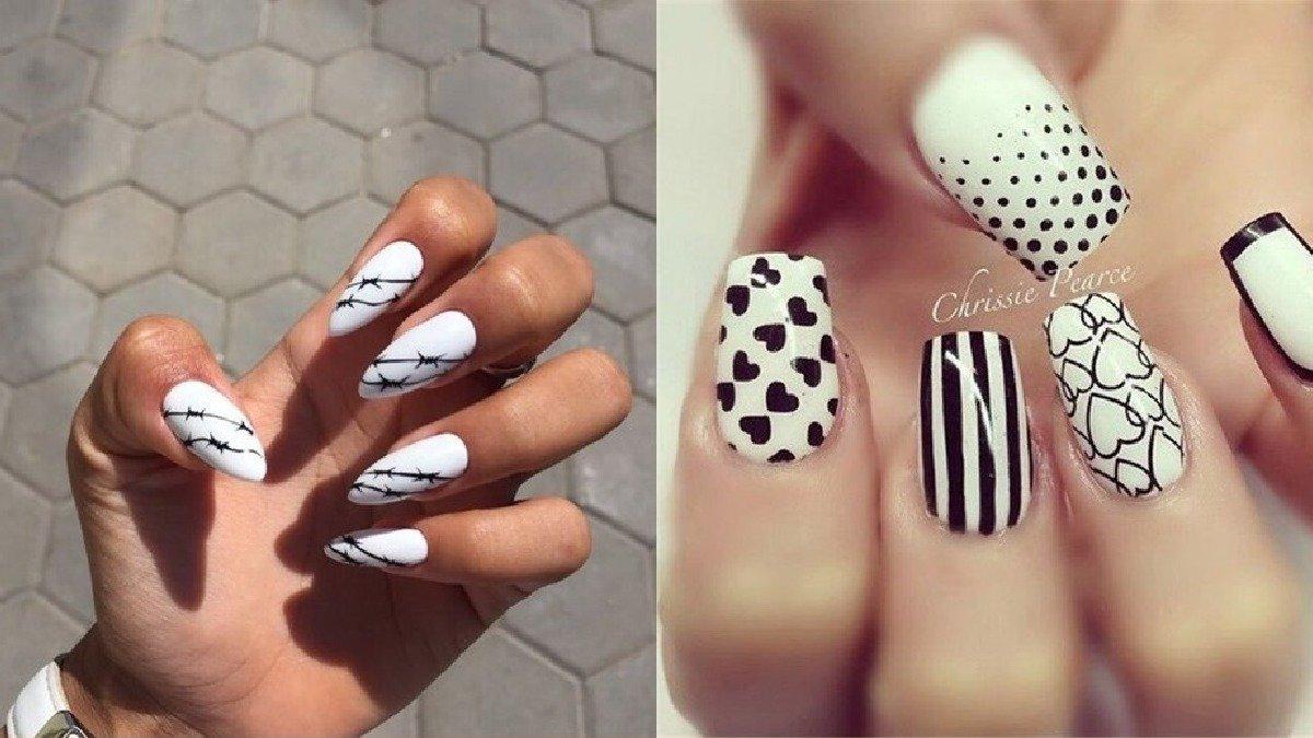 Czarno-biały manicure: 25 pomysłów na gustowne paznokcie [GALERIA]