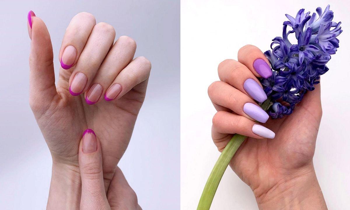 Fioletowy manicure - 20 fantastycznych pomysłów