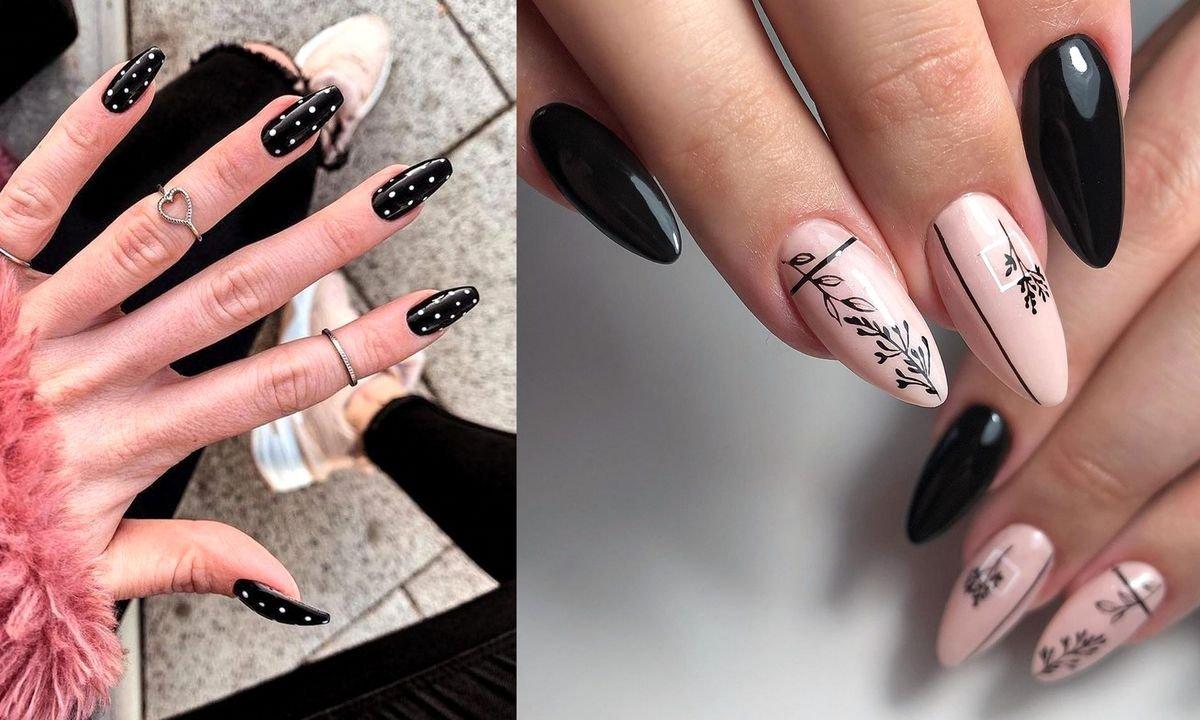 Czarny manicure - 30 eleganckich stylizacji