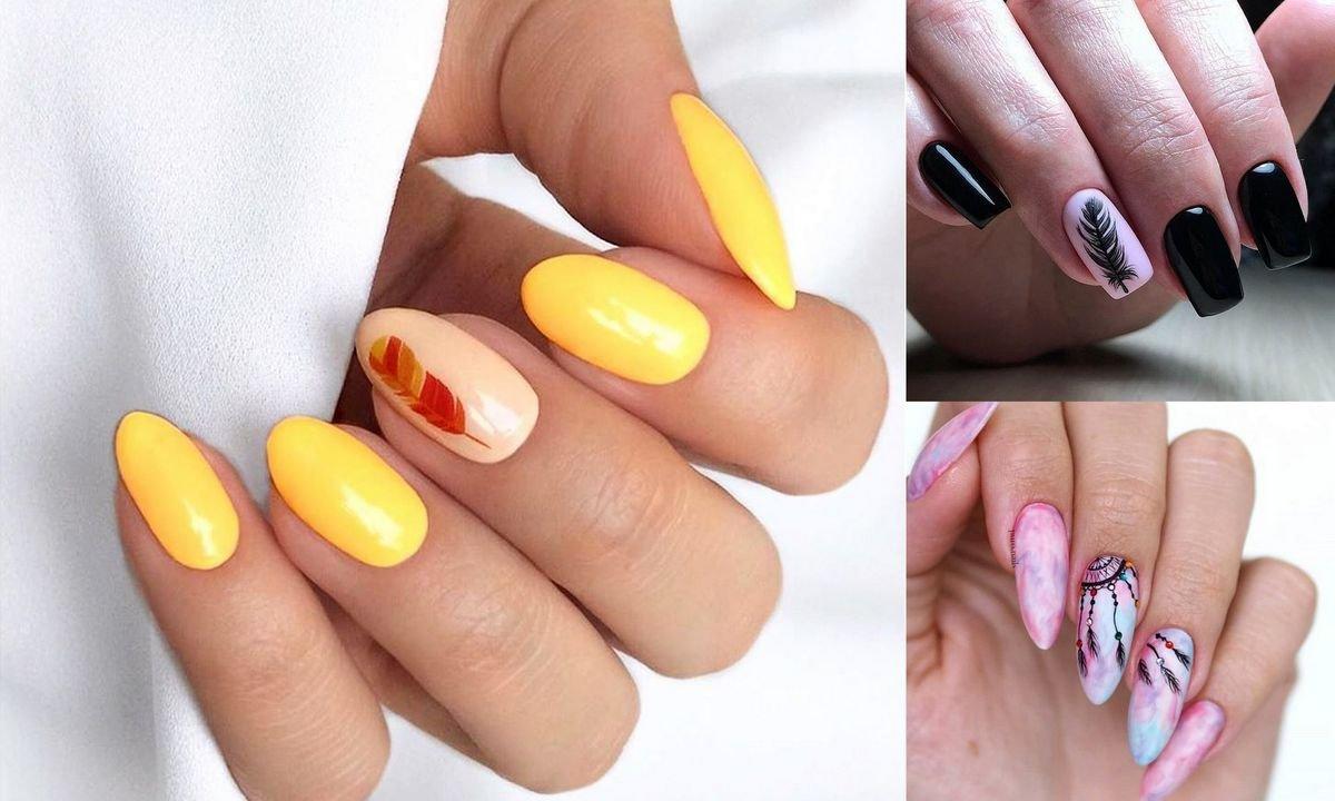 Manicure z piórkiem - 16 stylowych inspiracji