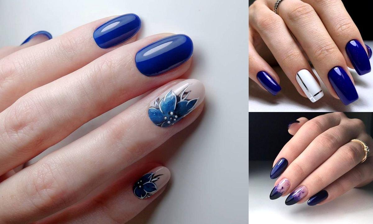 Granatowy manicure - 21 gustownych stylizacji