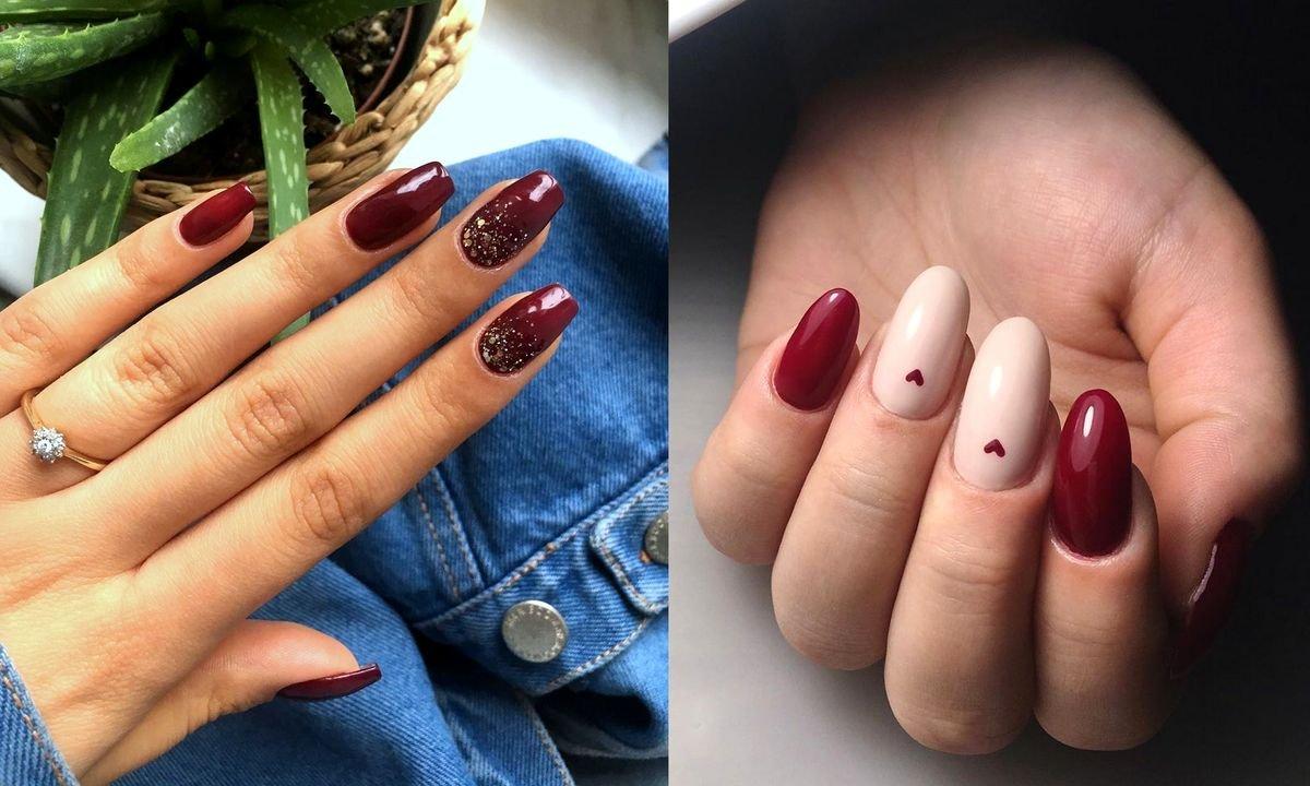 Bordowy manicure - 21 stylowych i subtelnych zdobień