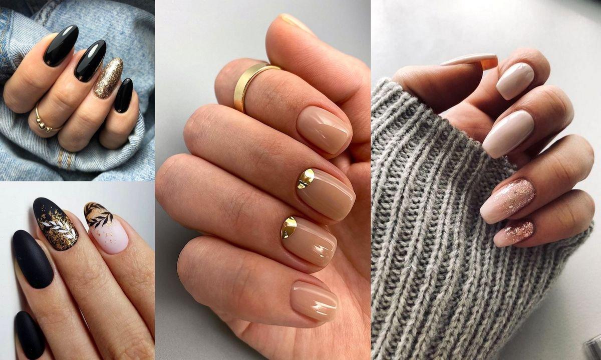 Złoty manicure - galeria najciekawszych stylizacji z sieci