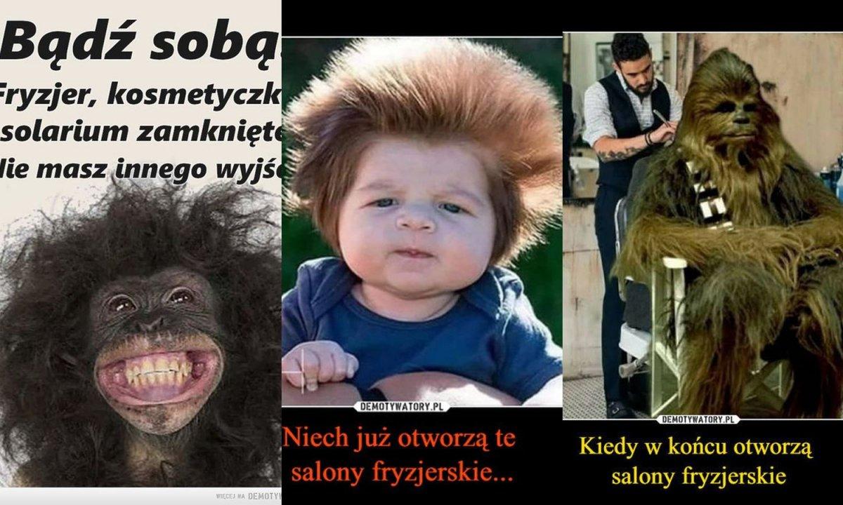 Koronawirus: Salony fryzjerskie są zamknięte już od kilku tygodni. Internauci tworzą memy!