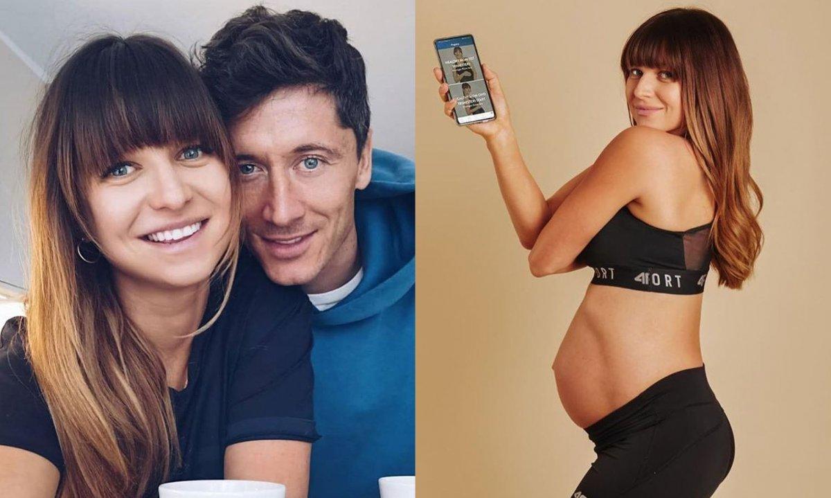 Anna Lewandowska wypięta w bikini łapie się za piersi! Czy już urodziła?
